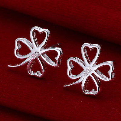 Wholesale discount solid 925sterling silver jewellery double heart earrings Gift