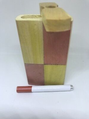 "Wooden Dugout Set with bat 4"" Spring Loaded (One Hitter)FREE SHIPPING!😃"
