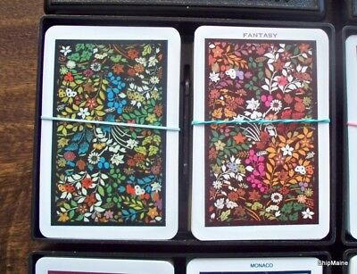 Lot of 6 Misc Vintage KEM Double Deck Playing Cards 1962 - 1997 Date Range
