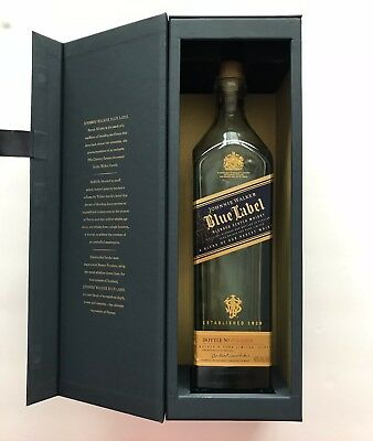 Johnnie Walker Blue Label Scotch Whiskey Bottle with Box empty No reserve!!!!