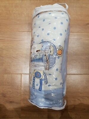 Next cheeky monkey cot bumper boys blue