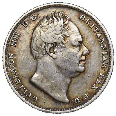 1831 Sixpence - William Iv British Silver Coin - Nice