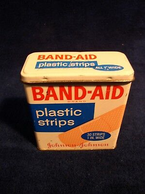 Band Aid Plastic Strips Bandages Tin Can