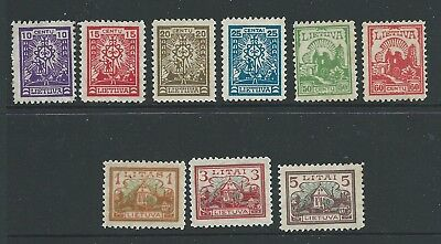 Russia Lithuania 1923 Set  Mh Fresh Looking