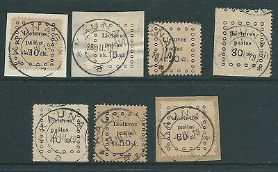 Russia Lithuania Nice Lot 1919 Issues Used