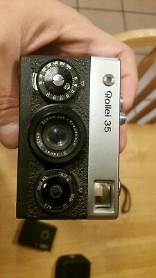 Rollei 35 Classic 35Mm Film Camera-Germany-Carl Zeiss Lens-With Booklet-Nice