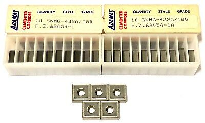 SNMG-432A Cermet Turning Inserts Grade T80 USA Made 25 Pack