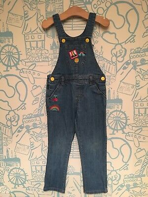 Girls Little Bird Jools Oliver Denim Dungarees Age 3-4 Years Mothercare Rainbow
