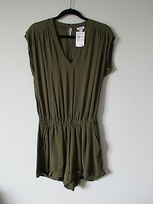 $128 NWT Splendid Green 100% Rayon Romper Size XS Made in USA