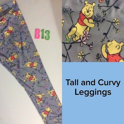#B13 Lularoe Disney TC Leggings Winnie the Pooh Smiling Hiding Disneyland