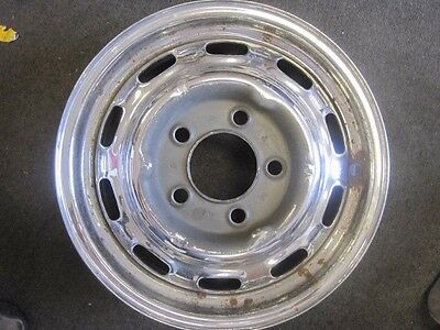 "Original Lemmerz Factory Porsche  911-912 CHROME 4 1/2"" X 15"" WHEEL DATE 2/1964"