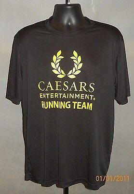 Ceasars Entertainment Running Team Casino Las Vegas Nevada T-Shirt Size:L