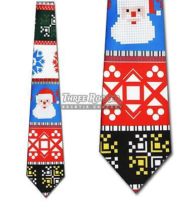 cff03f725d80 Ugly Sweater Ties Christmas Necktie Mens Holiday Neckties Santa Neck Tie NWT