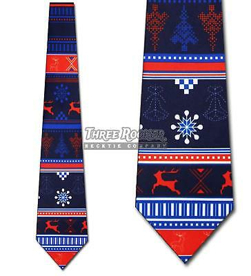 acc01c65346f Ugly Sweater Tie Christmas Necktie Mens Holiday Neckties Snowflake Neck Ties  NWT