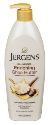 (2 Pack) JERGENS SHEA BUTTER 16.8 Ounce LOTION PUMP