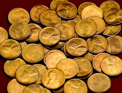 1951-S Lincoln Cents ~ 2 Bu Coins ~ Beautiful Luster ~ From Original Bu  Roll!