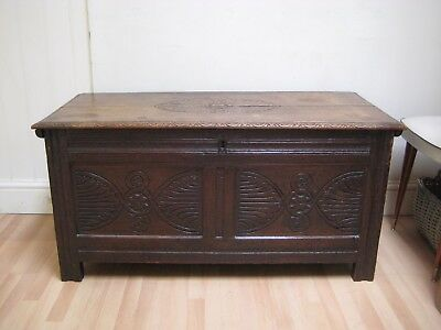 17th Century Carved Oak Coffer / Chest - circa 1680 and in lovely condition