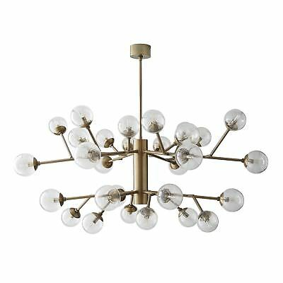 """58"""" Dia Chandelier Vintage Brass Canopy Finish Glass Crystal Gold Clear Clear"""