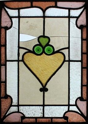Pretty Victorian Rondels Antique Stained Glass Window
