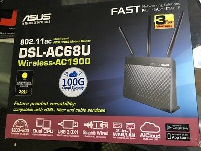 Asus DSL-AC68U Wireless AC1900 ADSL2+ Modem Router