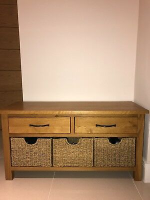 Fine Sidmouth Oak Wood Storage Bench Seat With Drawers And Basket Short Links Chair Design For Home Short Linksinfo
