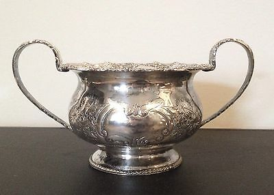 Sheffield Reproduction Silverplate on Copper Sugar Bowl, on Copper, 1763 Mark