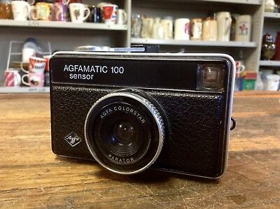 BRT Vintage German Manual AGFA Agfamatic 100 Sensor 126 Film Camera Good Cond.