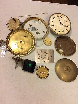 Group Of Clocks And Parts Steampunk Lot 4