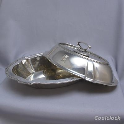 Gorham Sterling Silver Plymouth Covered Serving Dish Serving Bowl w/ Lid #AD523