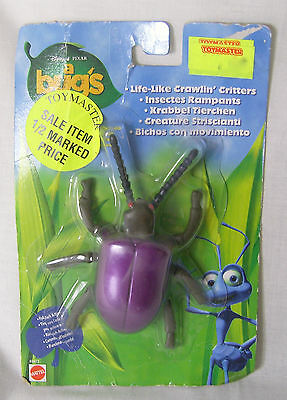 Vintage 1998 Mattel Disney A Bugs Life - Life-Like Crawlin' Critters Figures