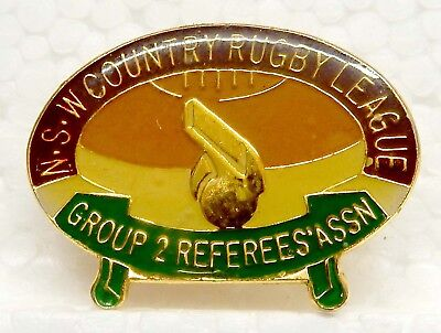 Old Rugby League Badge...'n.s.w.country Rugby League'..group 2 Referees' Assn