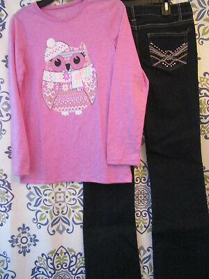 *nwot* 2 Piece Girls Size 14-16 Owl Top & One Step Up Jeans