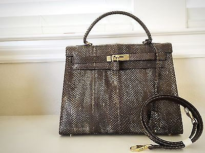 e7cb3920a12ed Collector s Item Kelly Bag Snake Handbag Exotic Leather 32 Purse With Straps