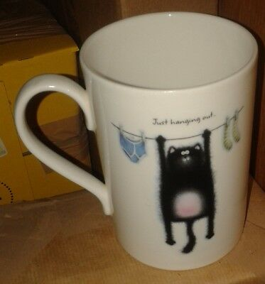 "Portmeirion Studio (PS) Splat the Cat ""Just Hanging Out"" Mug by Rob Scotton - VG"
