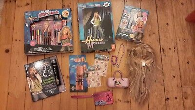 Hannah Montana BNIP+Used-Wig, Book, Microphone, Puzzle, Tat2 Art, Stationery etc