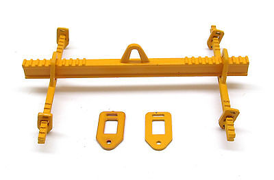 64 TON Lifting Beam with Adjustable Cross Beams in Yellow  1:50 Scale By YCC 701