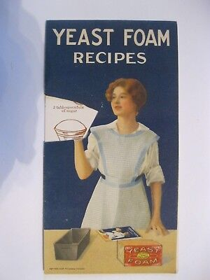 Vintage Antique Cook Book YEAST FOAM Recipes Breads  YUM