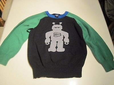 Babygap Toddler 4 Years Cute Robot Soft Ribbed Sweatshirt/sweater 100% Cotton