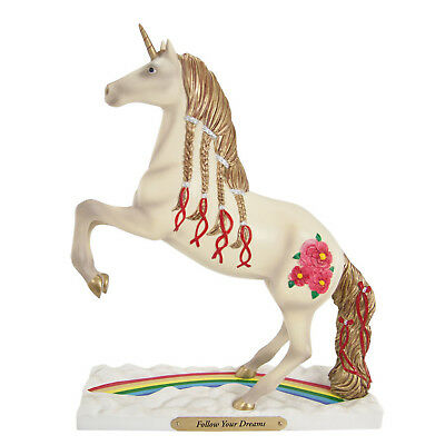 """NEW! THE TRAIL of PAINTED PONIES Rainbow Unicorn """"FOLLOW YOUR DREAMS"""" #4036431"""