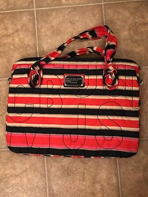 Marc By Marc Jacobs Striped Signature Laptop Bag