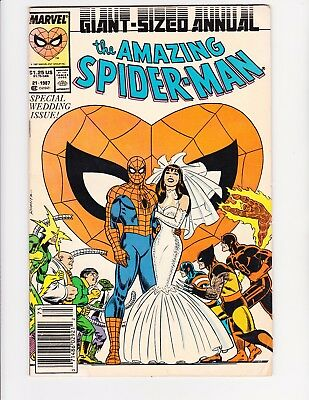 The Amazing Spider-Man Annual #21 Variant Cover Low Grade MARVEL 1987 NEWSSTAND