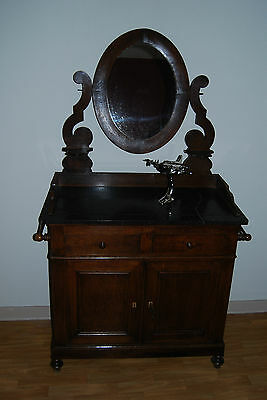 Meuble ancien en ch ne eur 45 00 picclick be for Meuble lavabo ancien