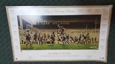 Richmond Tigers Dream Scene 50 Years At The MCG SIGNED ROYCE HART / 250
