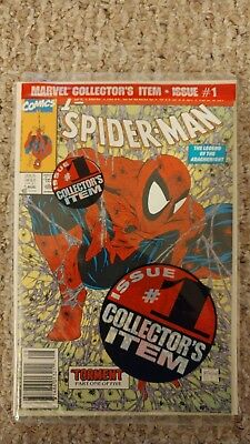 Spider-Man #1 Green cover, Todd McFarlane Comic Book 1990, Still in sealed bag.