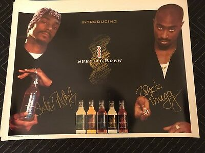 2pac tupac shakur st ides special brew poster snoop dogg death row rare oop