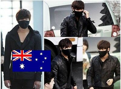 Black Cotton Cycling Dust Mouth Face Mask Respirator Anime Ninja Style w/ Straps