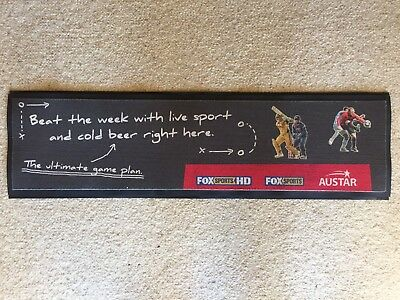 Austar Footy Bar Mat Runner Beer Home Brew Pub Collectable