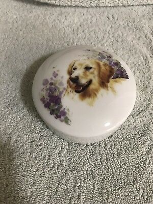 VINTAGE Animal Accents Plus Golden Retriever TRINKET Made in USA