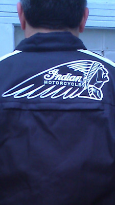 Large Indian Motorcycle Black & White Patch