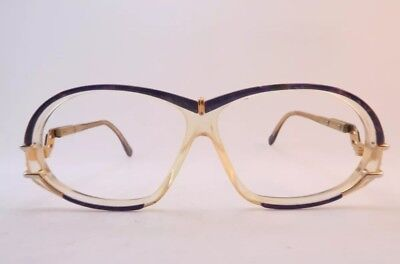 Vintage 80s Cazal Frames with Purple Acetate Lens Surrounds Made In Germany